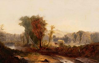 William M. Hart (American, 1823-1894) The Hay Wagon