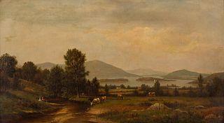James Macdougal Hart (American, 1828-1901) Hudson River Scene