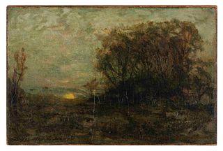 Charles Melville Dewey (American, 1849-1937) Evening Landscape