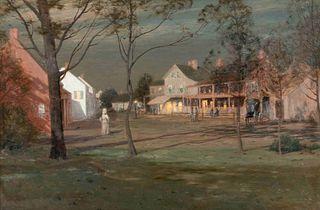Leonard Ochtman (American, 1854-1935) Moonlight, 1894