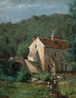 Julian Alden Weir (American, 1852-1919) The Old Mill