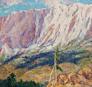 Nellie Augusta Knopf (American, 1875-1962) Pikes Peak from Mt. Manitou, 1925