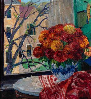 Nellie Augusta Knopf (American, 1875-1962) View from My Window at the College, 1929