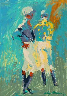 LeRoy Neiman (American, 1921-2012) Two Jockeys, 1963