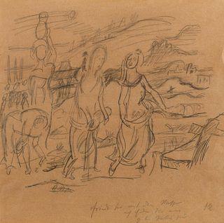 Oskar Kokoschka (Austrian, 1886-1980) Untitled