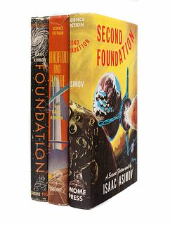 ASIMOV, Isaac (1920-1992). [The Foundation Trilogy]: Foundation.  - Foundation and Empire.  - Second Foundation. New York: Gnome Press, 1951-53.