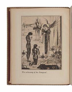 BEARDSLEY, Aubrey (1872-1898), illustrator. -- MALORY, Thomas, Sir (fl 1470). [Le Morte d'Arthur]. The Birth Life and Acts of King Arthur of his Noble
