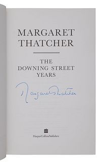 [BRITISH POLITICS -- PRIME MINISTERS]. THATCHER, Margaret (1925-2013). The Downing Street Years. London: Harper Collins, 1993.