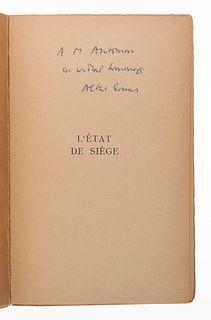 CAMUS, Albert (1913-1960). L'Etat de siege. Spectacle en trois parties. Paris: Gallimard, 1948.