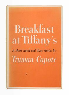 CAPOTE, Truman (1924-1984). Breakfast at Tiffany's. New York: Random House, 1958.