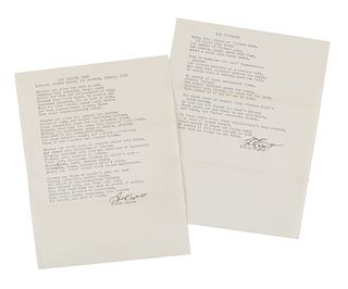 """CAPUTO, Philip (b. 1941). A collection of 2 typed poems signed with carbon copies (""""Philip Caputo""""), 2 autograph letters signed (""""Phil""""), and one type"""