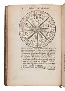 CARPENTER, Nathanael (1589-1628?). Geography delineated forth in Two Bookes. Containing the sphaericall and topicall parts thereof. Oxford: John Lichf