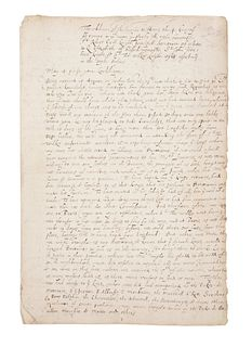 CECIL, Robert, 1st Earl of Salisbury (1563-1612). Manuscript copy of two dispatches by Sir Robert Cecil giving account of his embassy to King Henry IV