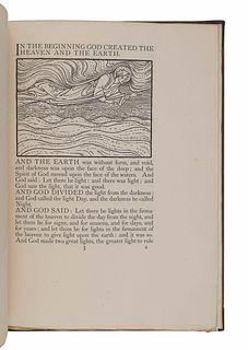 [FINE PRESS & LIVRE D'ARTISTE]. -- [KELMSCOTT PRESS]. BURNE-JONES, Edward (1833-1898).The Beginning of the World. London: Longmans, Green, & Co., 190