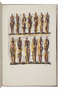 [FINE PRESS & LIVRE D'ARTISTE]. -- MOORE, Henry Spencer (1898-1986). Heads Figures and Ideas. London and Greenwich, CT: George Rainbird, New York Grap