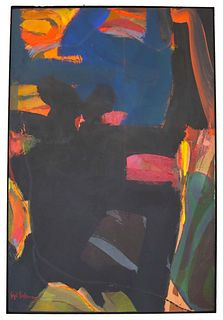 Syd Solomon (1917-2004) Amer., Acrylic on Canvas