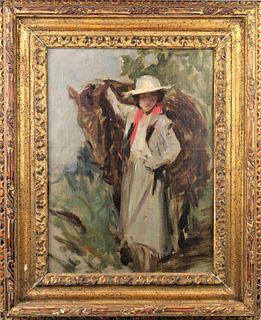 Irving Ramsey Wiles (1861-1948) NY, O/C