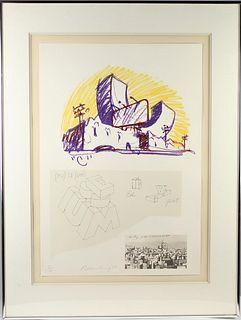 Claes Oldenburg (b. 1929) American, Lithograph