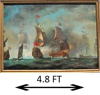 Large European Maritime Ship Battle Scene