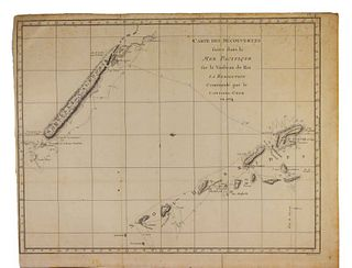 Captain James Cook Map of New Caledonia 1778