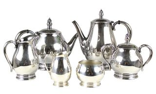 (6) Pc Royal Danish International Sterling Tea Set