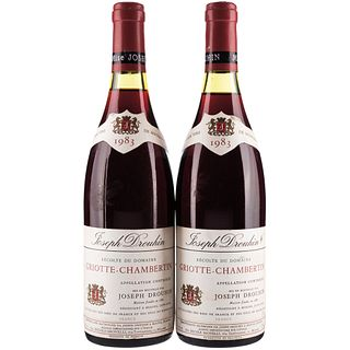 Griotte - Chambertin. Cosecha 1983. Beaune. France. Niveles: a 2.7 y 3 cm. Piezas: 2.