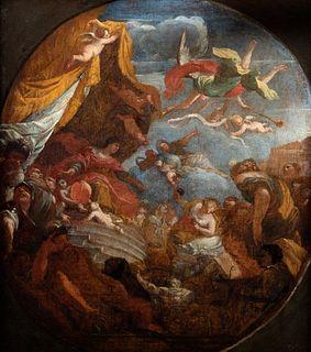 Scuola veneta, secolo XVIII - Allegorical scene