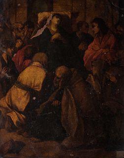 Cerchia di Carlo Saraceni (Venezia 1579 - 1620) - Death of the Virgin