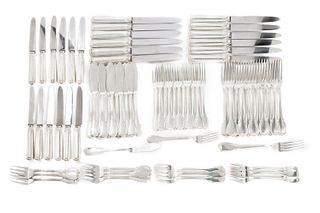 Set of 12 cutlery in 800 silver