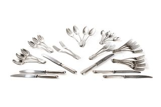 Incomplete silver cutlery set