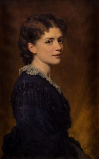 George Peter Alexander Healy (Boston 1808-Chicago 1894)  - Portrait of Mrs. Word