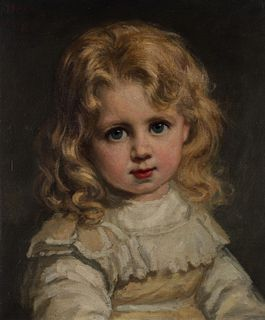 George Peter Alexander Healy (Boston 1808-Chicago 1894)  - Portrait of little girl