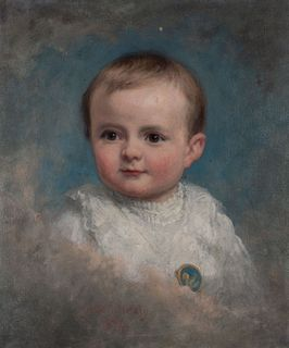 George Peter Alexander Healy (Boston 1808-Chicago 1894)  - Portrait of a child