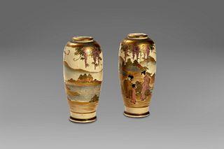 Pair of porcelain vases, Japan, Meiji period (1868 - 1912)