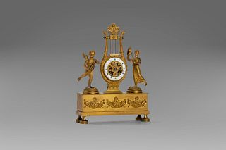 Empire period gilt bronze clock