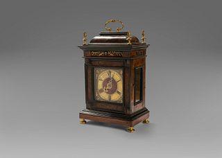 Wood and gilt bronze clock, Rome 18th century