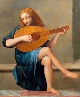 Imitatore di Lorenzo Lotto - Musician Angel