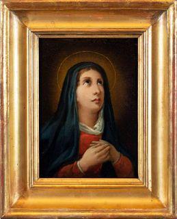 Scuola europea, secolo XVIII - Madonna in prayer