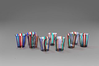 Gio Ponti (MIlano 1891-1979)  - Lot of nine Murano glass, from the 1950s to the 1990s