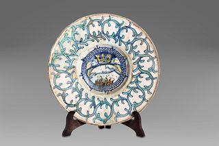 Deruta plate, 16th century
