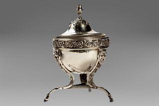 Silver sugar bowl, Lombard-Venetian punch, 19th century