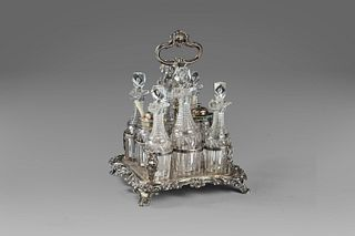 Crystal and silver tableware, England 19th century