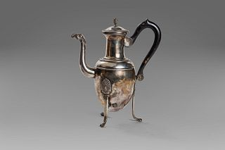 Impero silver coffee pot, Naples first half of the 19th century