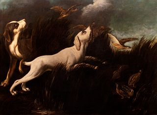 Baldassare de Caro (Napoli 1689-Napoli 1750)  - Hunting scene