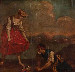 Scuola italiana, secolo XVIII - Bucolic scene