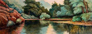 Luis Granata (1901-1964)  - Lake landscape