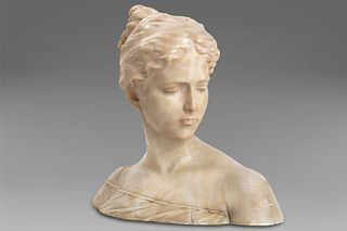 Antonio Garella (Ferrara 1863-Firenze 1919)  - Bust of a girl