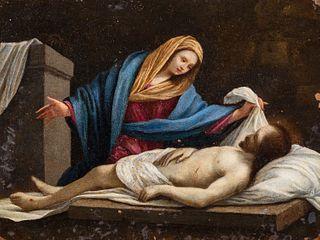 Scuola bolognese, secolo XVII - Pietà