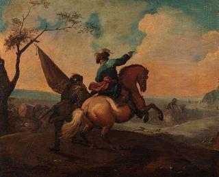 Scuola emiliana, fine del secolo XVII inizi del secolo XVIII - Battle scene