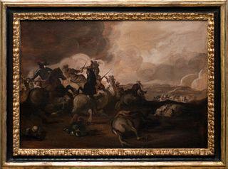 Scuola dell'Italia settentrionale, secolo XVIII - Battle scene